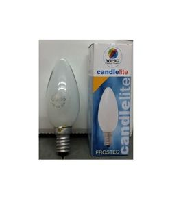 Wipro 40W E-14 Frosted Candle Lamp