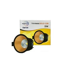 Wipro Garnet 15W LED Trimless Gold COB